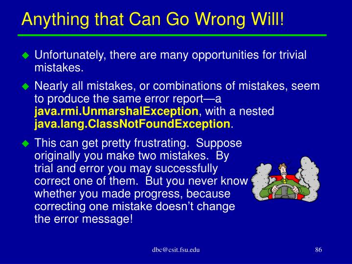 Anything that Can Go Wrong Will!