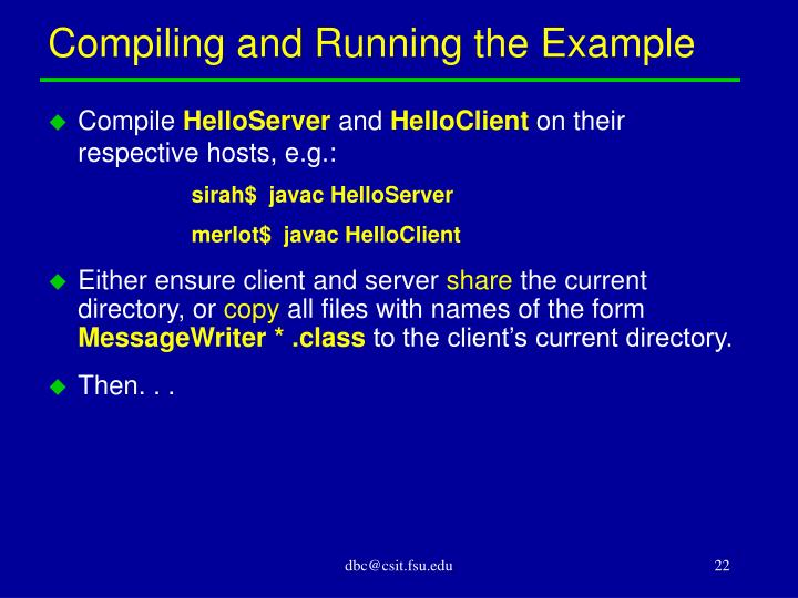 Compiling and Running the Example