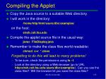 compiling the applet