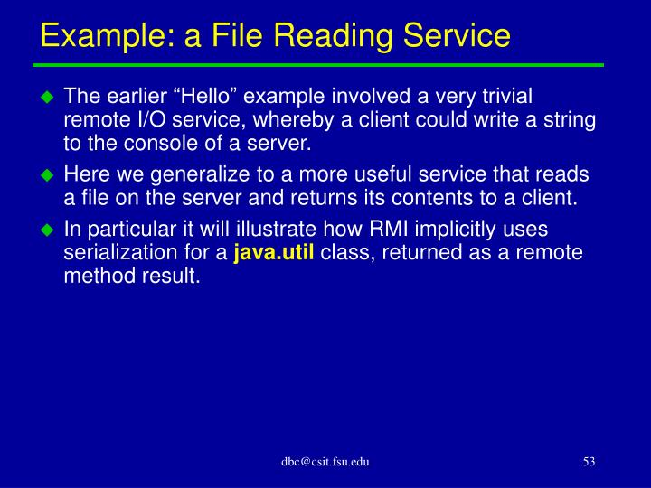 Example: a File Reading Service