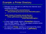 example a printer directory