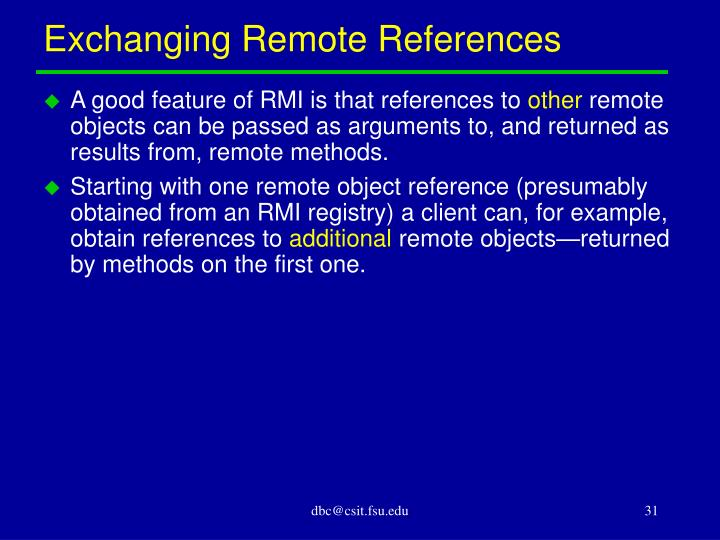 Exchanging Remote References