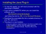 installing the java plug in