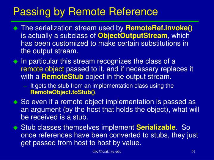 Passing by Remote Reference