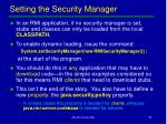setting the security manager