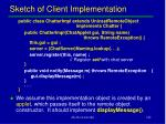 sketch of client implementation