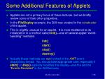 some additional features of applets