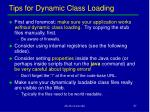 tips for dynamic class loading