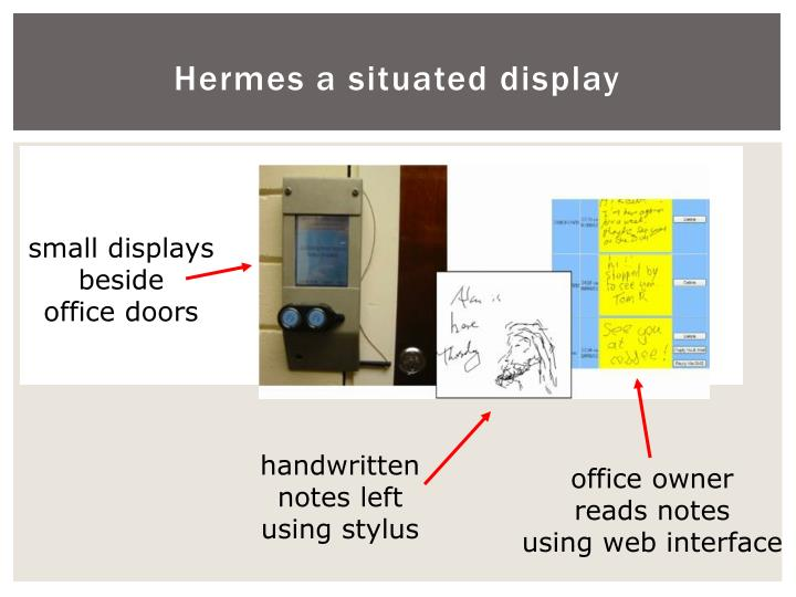 Hermes a situated display