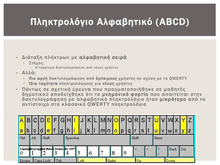 Πληκτρολόγιο Αλφαβητικό (