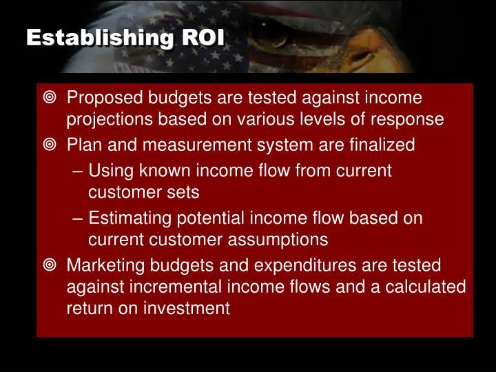 Establishing ROI