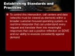 establishing standards and practices1