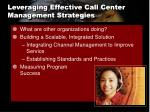 leveraging effective call center management strategies1