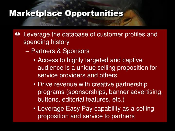 Marketplace Opportunities