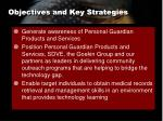 objectives and key strategies