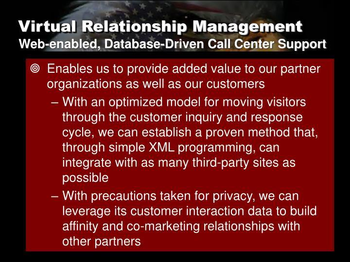 Virtual Relationship Management