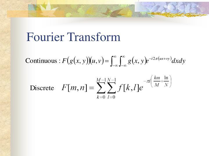 Fourier Transform