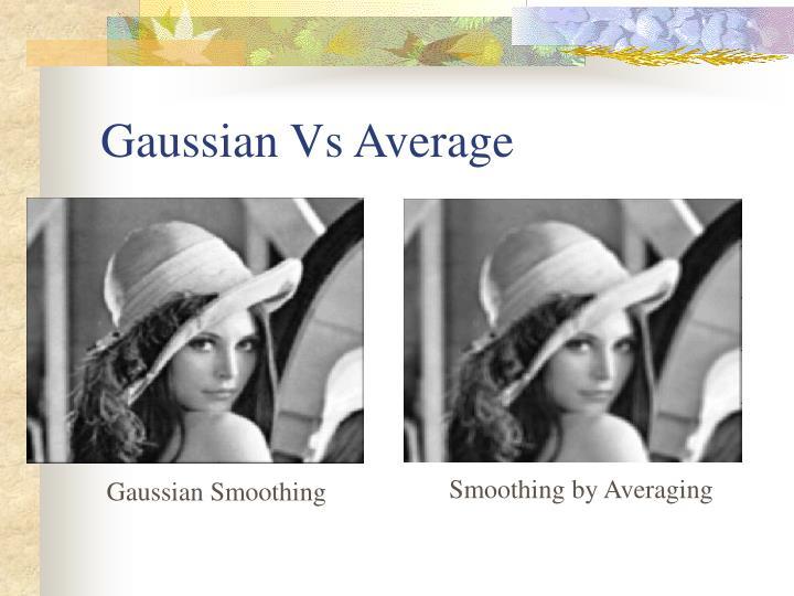 Gaussian Vs Average
