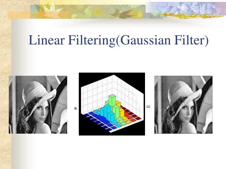 Linear Filtering(Gaussian Filter)
