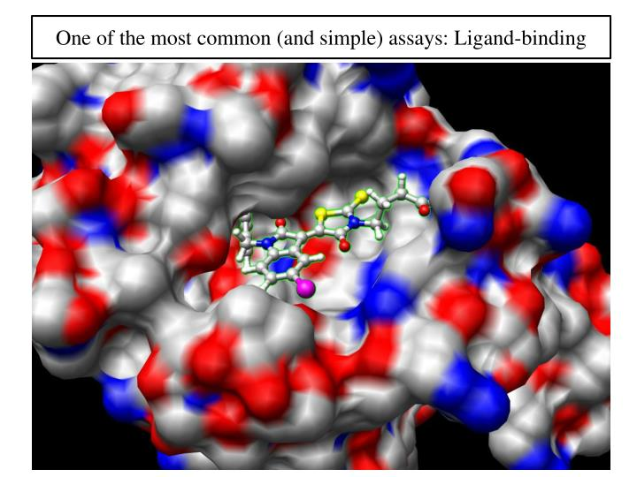 One of the most common (and simple) assays: Ligand-binding