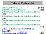 table of contents 2 2