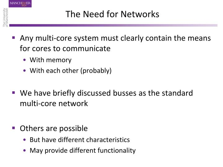The Need for Networks