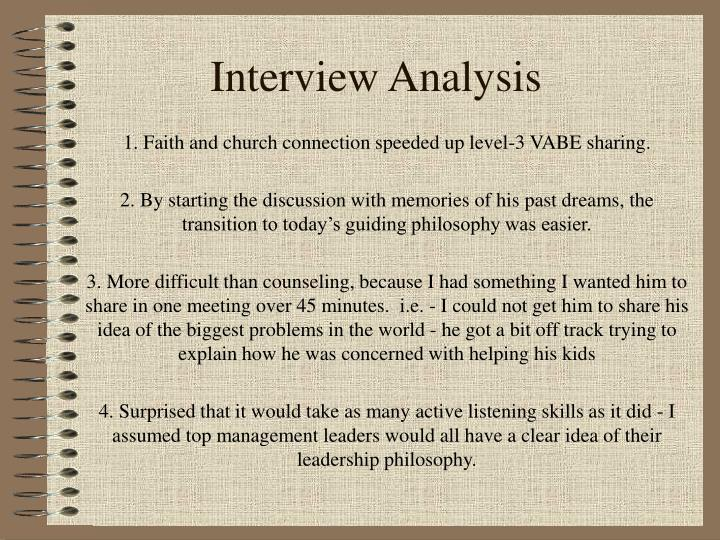 Interview Analysis
