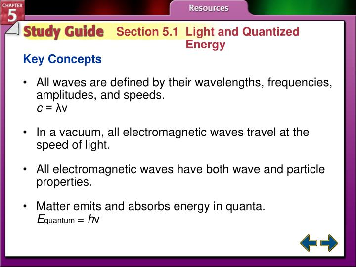 Section 5.1  Light and Quantized Energy
