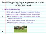 modifying offspring s appearance at the non dna level