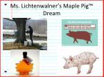 ms lichtenwalner s maple pig dream