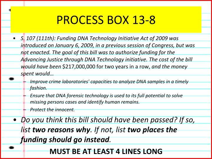 PROCESS BOX 13-8
