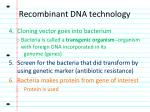 recombinant dna technology2