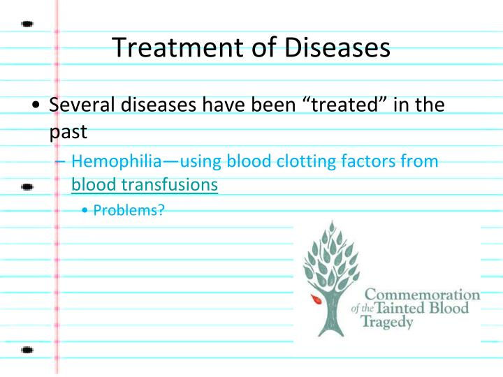 Treatment of Diseases