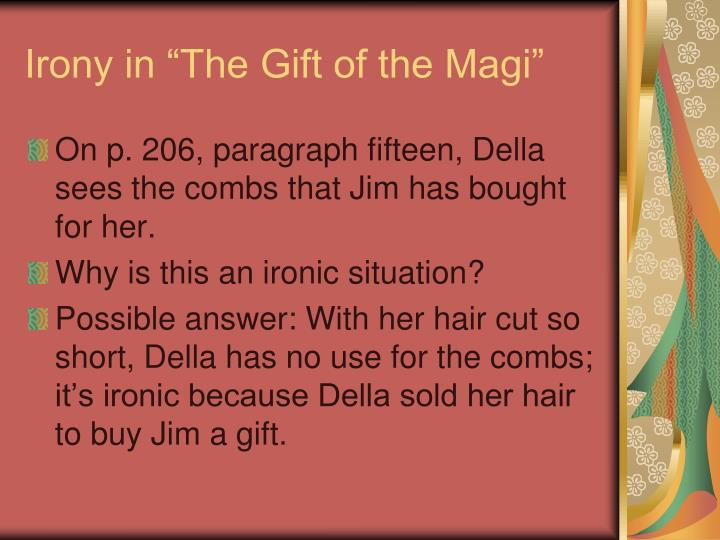 "Irony in ""The Gift of the Magi"""