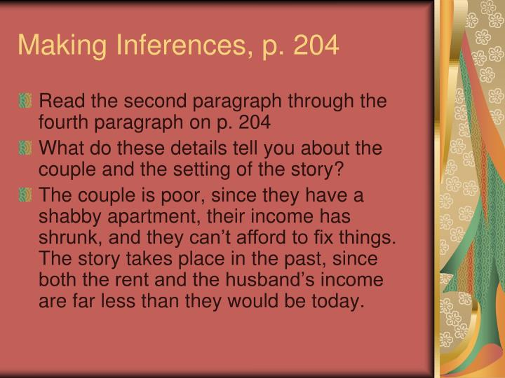 Making Inferences, p. 204