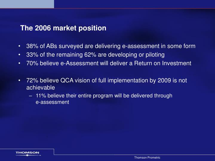 The 2006 market position
