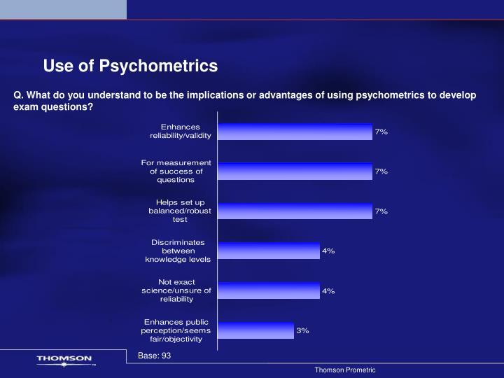 Use of Psychometrics