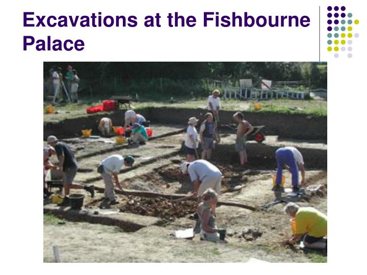 Excavations at the Fishbourne Palace