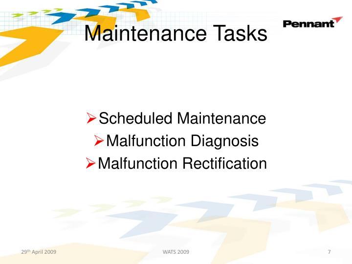 Maintenance Tasks