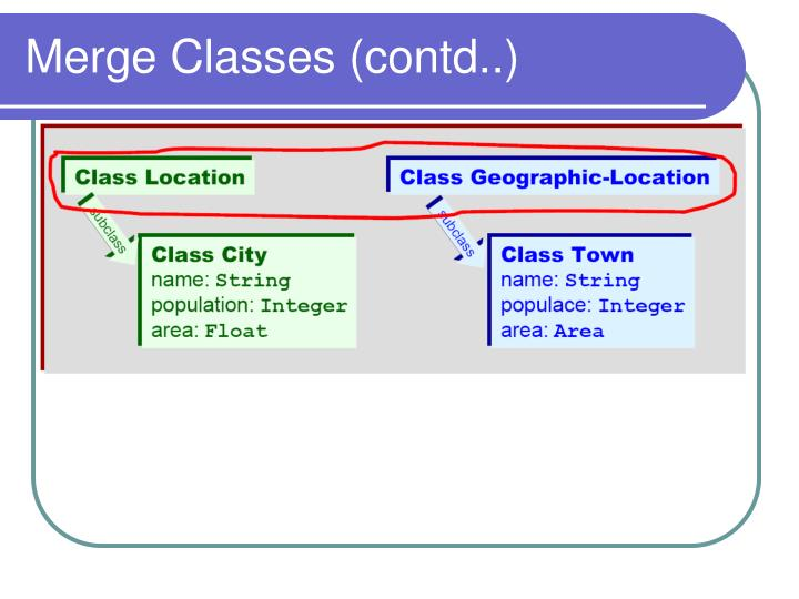 Merge Classes (contd..)