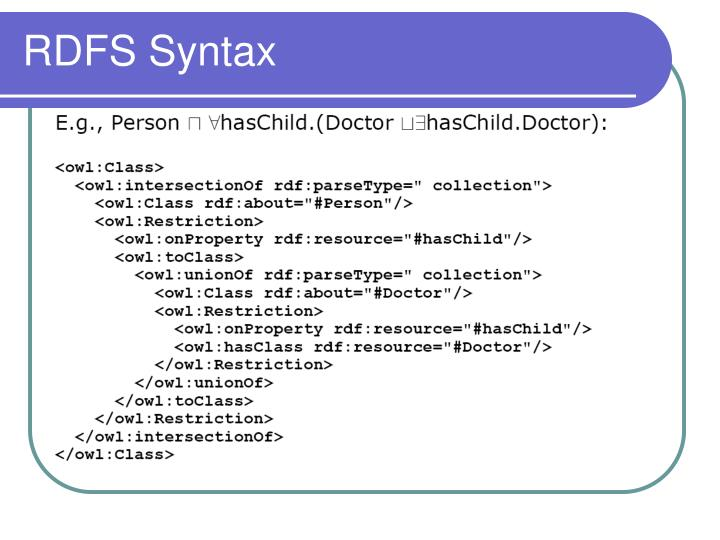 RDFS Syntax