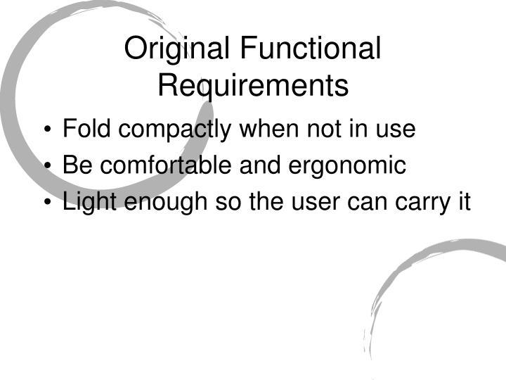 Original Functional Requirements