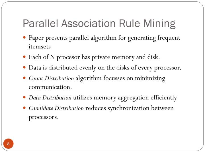 Parallel Association Rule Mining