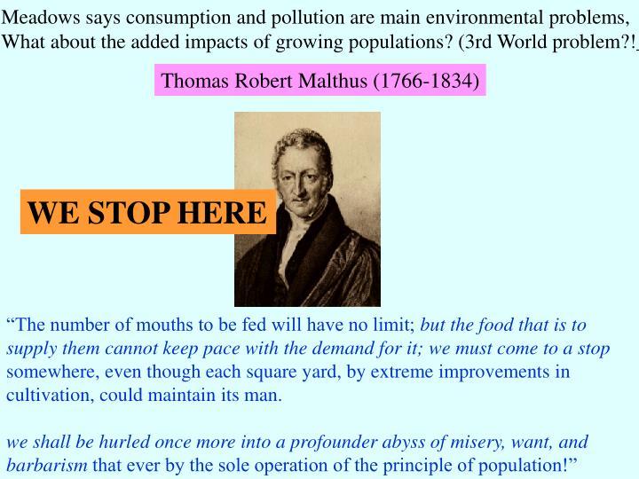 Thomas Robert Malthus (1766-1834)
