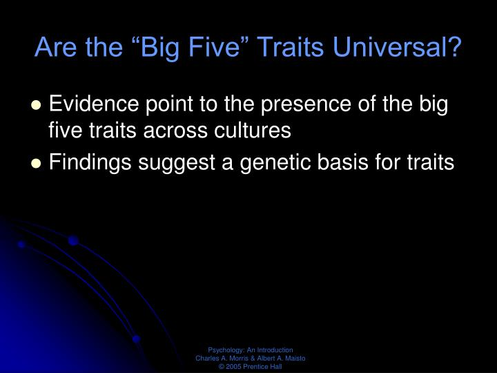 "Are the ""Big Five"" Traits Universal?"