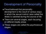 development of personality