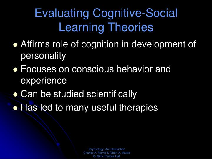 Evaluating Cognitive-Social Learning Theories