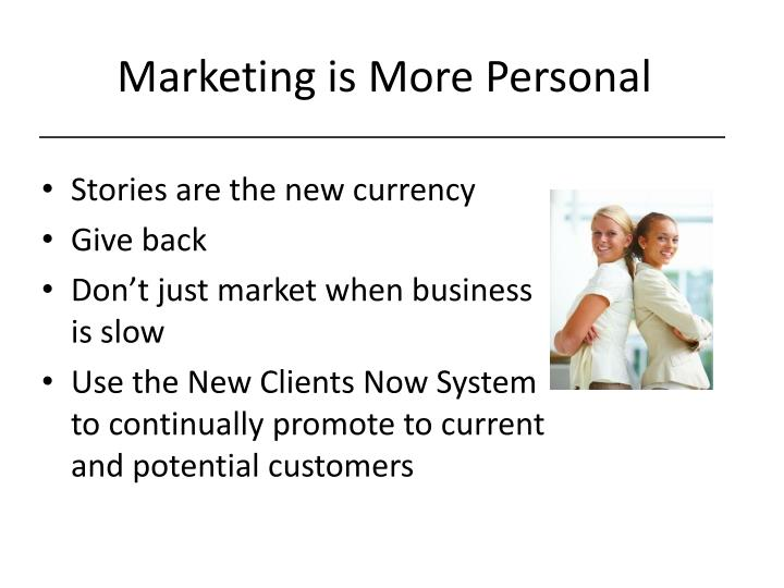 Marketing is More Personal
