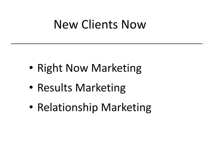 New Clients Now