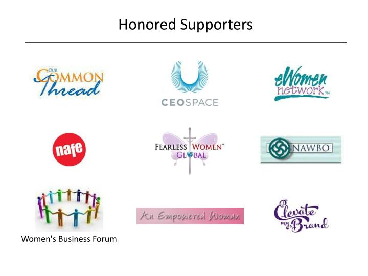 Honored Supporters
